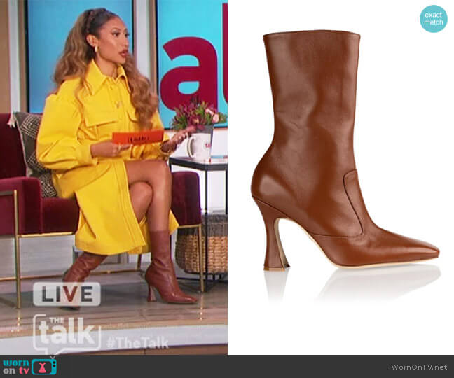 Brandy Boot in Whiskey by Brother Vellies worn by Elaine Welteroth  on The Talk