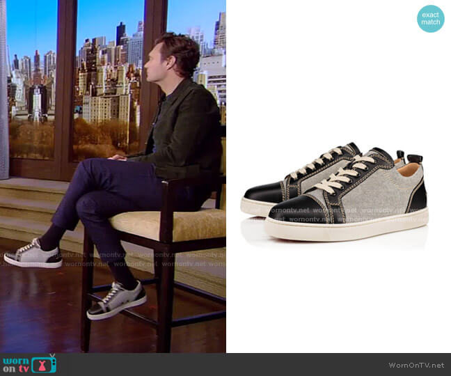 Louis Junior Flat Sneakers by Christian Louboutin worn by Ryan Seacrest on Live with Kelly and Ryan