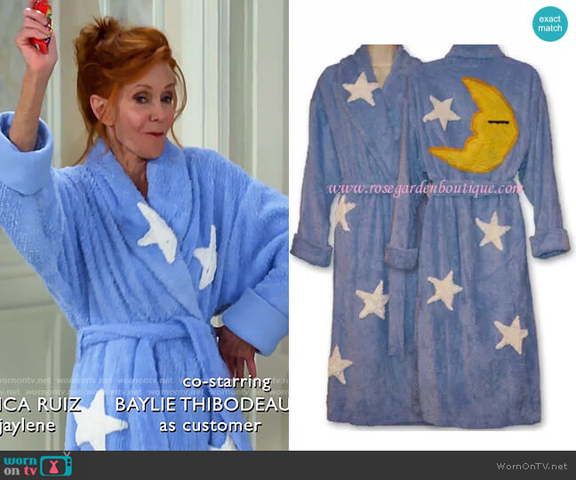 Canyon Group Moon and Stars Robe worn by Sheila (Swoosie Kurtz) on Call Me Kat