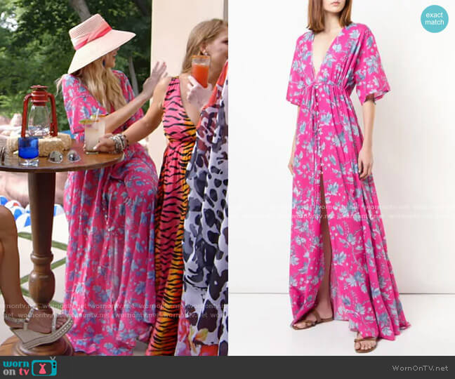 Floral Print Maxi Dress by Carolina Herrera worn by Kameron Westcott  on The Real Housewives of Dallas