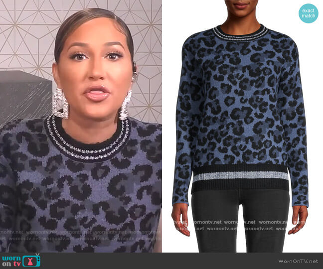 Leopard-Print Sweater Central Park West worn by Adrienne Houghton  on The Real
