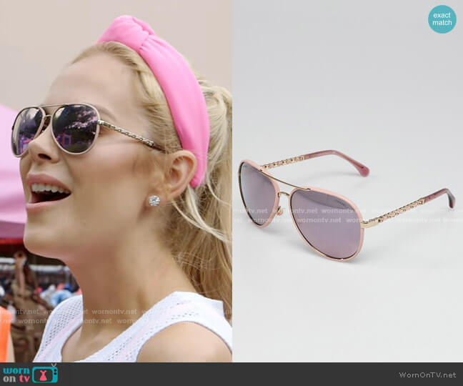CC Aviator Pilot Sunglasses by Chanel worn by Kameron Westcott  on The Real Housewives of Dallas