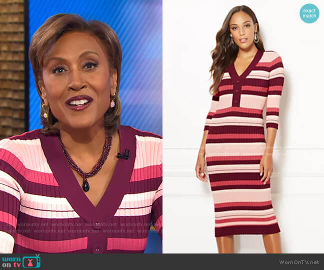 Cherelle Dress - Eva Mendes Collection by New York & Company worn by Robin Roberts  on Good Morning America