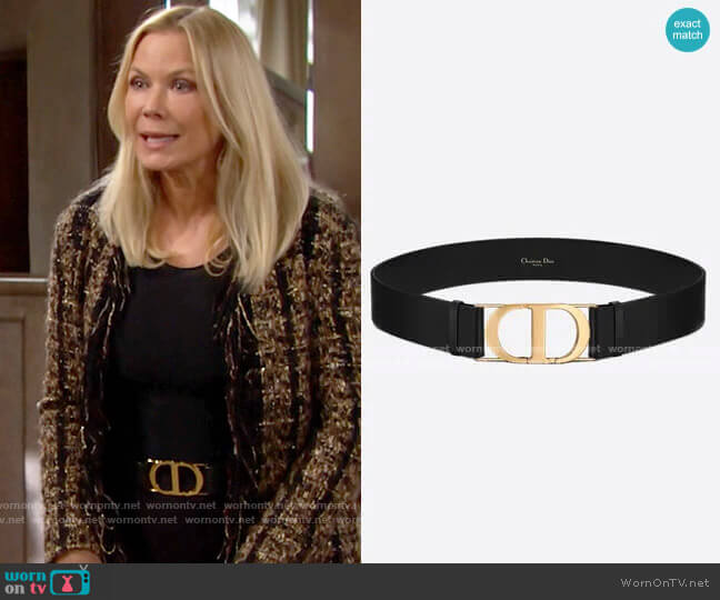 Christian Dior 30 Montaigne Belt worn by Brooke Logan (Katherine Kelly Lang) on The Bold & the Beautiful