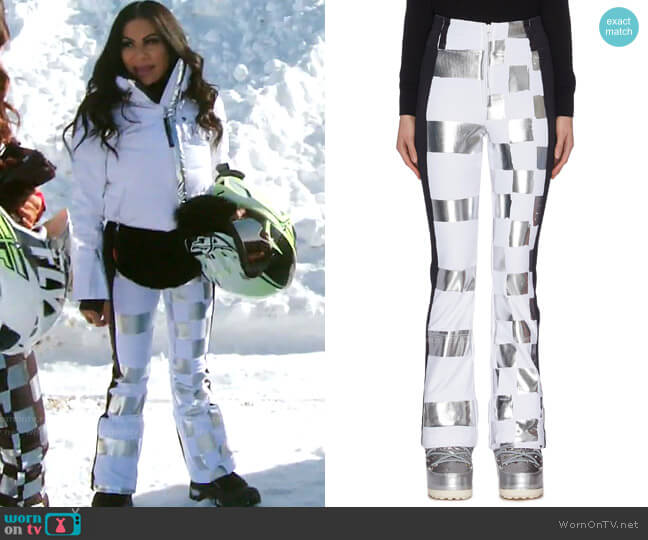 Dami Metallic Check Ski Pants by Rossignol x Jcc worn by Jen Shah  on The Real Housewives of Salt Lake City