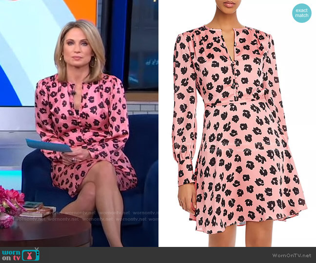Danette A-Line Mini Dress by Equipment worn by Amy Robach  on Good Morning America