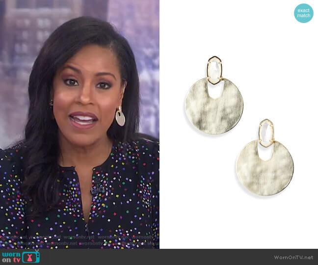 Deena Earrings by Kendra Scott worn by Sheinelle Jones  on Today