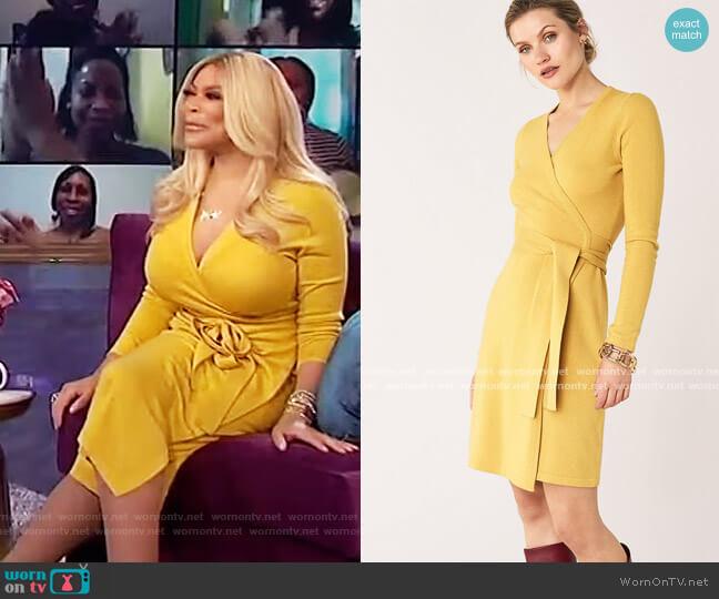 Linda Wool-Cashmere Wrap Dress by Diane Von Furstenberg worn by Wendy Williams  on The Wendy Williams Show