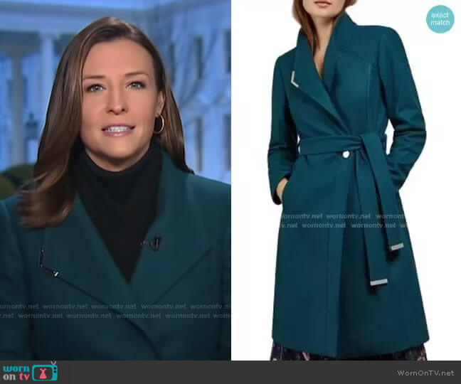 Ellgenic Long Belted Coat by Ted Baker worn by Mary Bruce  on Good Morning America