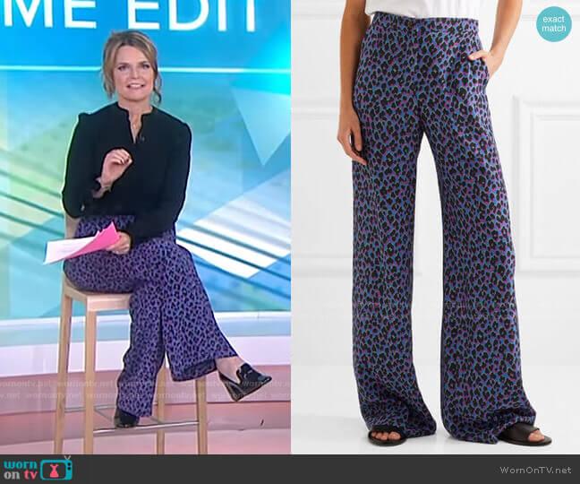 Emmanuelle Wide-Leg Pants by Vanessa Seward worn by Savannah Guthrie  on Today