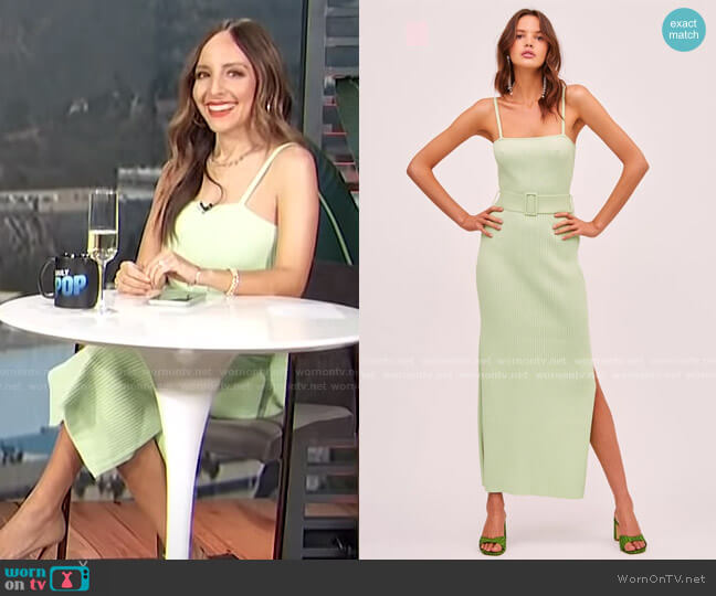 Briggitte Dress by Finders Keepers worn by Lilliana Vazquez  on E! News