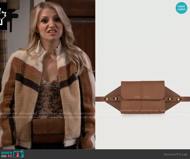 Frame Les Second - Belt Bag in Tobacco worn by Gina Dabrowski (Annaleigh Ashford) on B Positive