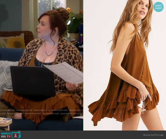 Free People We The Free Shimmy Sasha Tank worn by Kristin Baxter (Amanda Fuller) on Last Man Standing