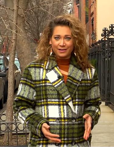 Ginger's green plaid coat on Good Morning America