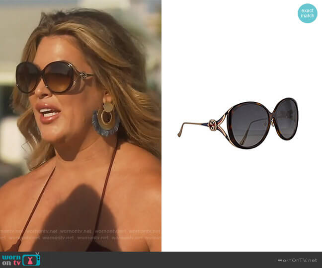 GG0226SK Glasses by Gucci worn by Emily Simpson  on The Real Housewives of Orange County