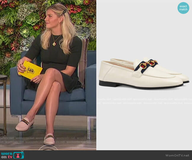Loafer with Web by Gucci worn by Amanda Kloots  on The Talk