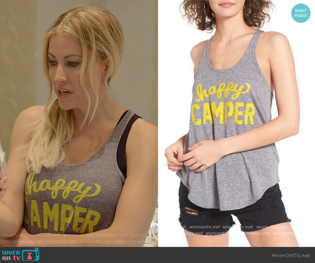 Happy Camper Athena Tank by Sub_Urban Riot worn by Stephanie Hollman  on The Real Housewives of Dallas