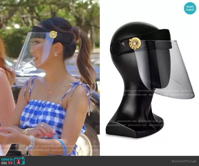 Hard Lens Clear Face Shield by Bluestone Sunshields worn by Tiffany Moon  on The Real Housewives of Dallas