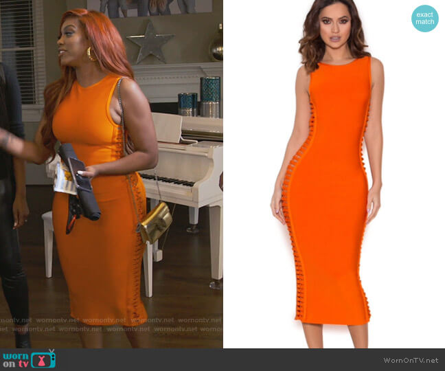 Martinique Dress by House of CB worn by Porsha Williams  on The Real Housewives of Atlanta