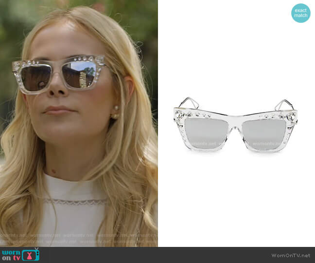 Bee Cat Eye Sunglasses by Jimmy Choo worn by Kameron Westcott  on The Real Housewives of Dallas
