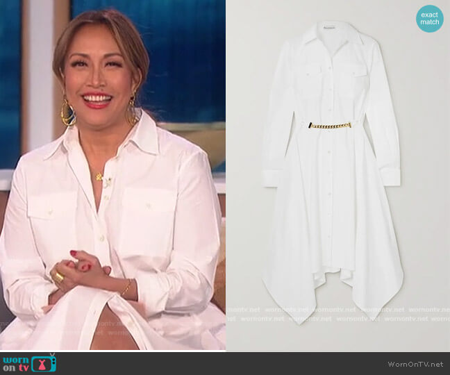 Asymmetric Shirt Dress by JW Anderson worn by Carrie Inaba  on The Talk