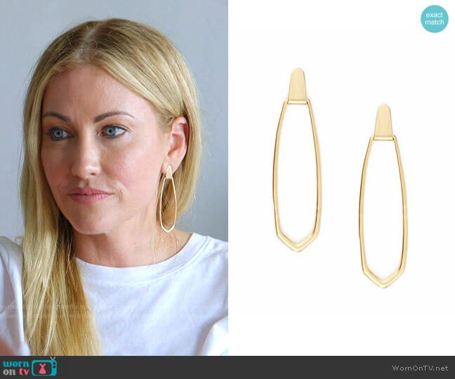 Patterson Hoop Earrings by Kendra Scott worn by Stephanie Hollman  on The Real Housewives of Dallas