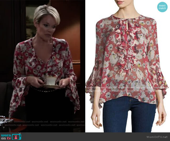 Agatha Blouse by Kobi Halperin worn by Ava Jerome (Maura West) on General Hospital