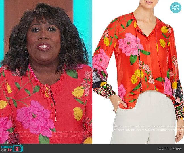 Noelle Floral Print Blouse by Kobi Halperin worn by Sheryl Underwood  on The Talk