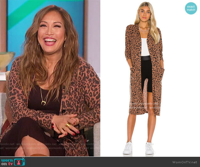 Brushed Dean Cardigan by LNA worn by Carrie Inaba  on The Talk