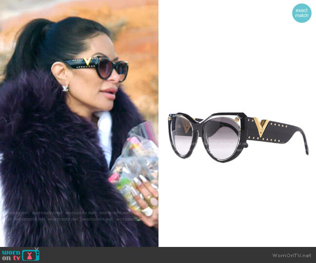 My Fair Lady Sunglasses by Louis Vuitton worn by Jen Shah  on The Real Housewives of Salt Lake City
