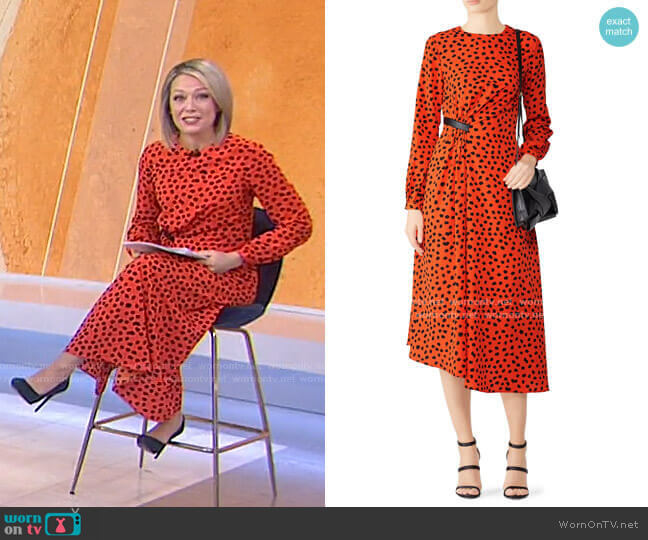 Lawton Dress by Hunter Bell worn by Dylan Dreyer  on Today