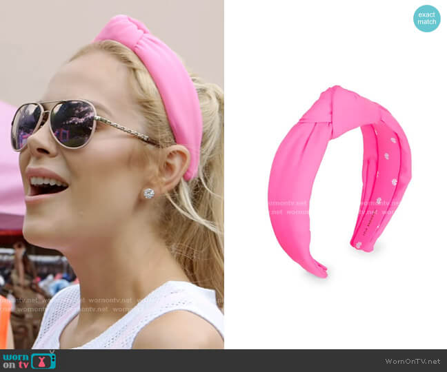 Neoprene Knot Headband by Lele Sadoughi worn by Kameron Westcott  on The Real Housewives of Dallas