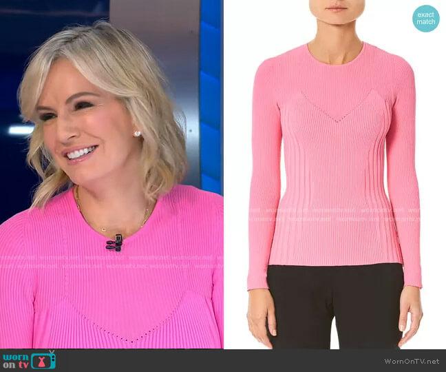 Long-Sleeve Crewneck Ribbed Sweater by Carolina Herrera worn by Dr. Jennifer Ashton  on Good Morning America