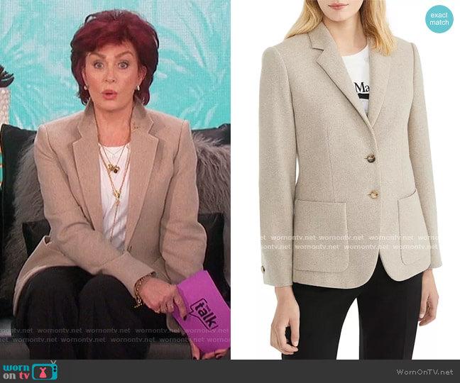 Cashmere Pecora Blazer by Max Mara worn by Sharon Osbourne  on The Talk