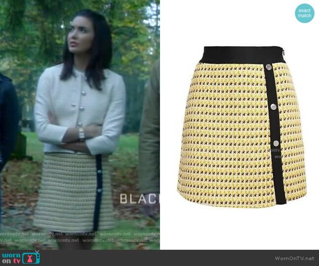 Jisidore Tweed Skirt by Maje worn by Bess (Maddison Jaizani) on Nancy Drew