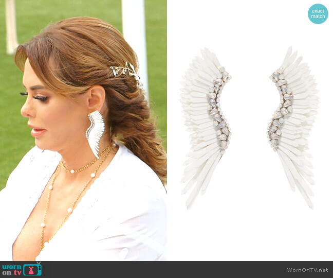 Mega Madeline Pearly Winged Earrings by Mignonne Gavigan worn by D'Andra Simmons  on The Real Housewives of Dallas