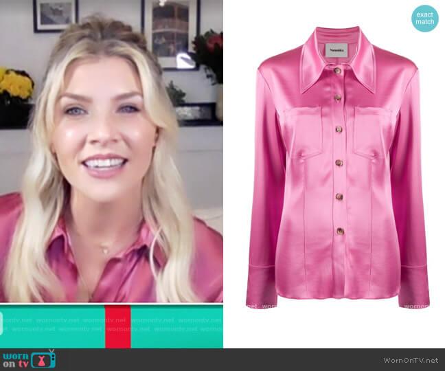 Tippi Satin Shirt by Nanushka worn by Amanda Kloots  on The Talk