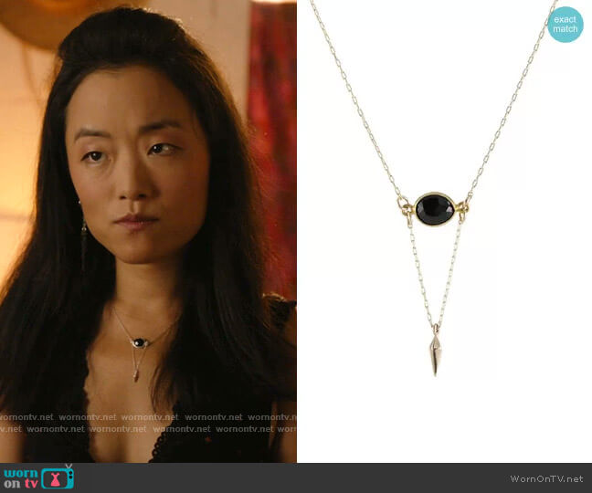 Onyx Point Necklace by Peggy Li worn by Janet (Andrea Bang) on Kims Convenience