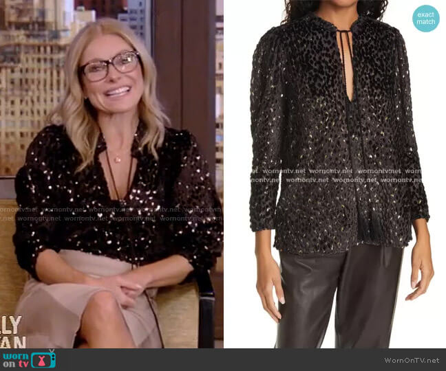 Ophelia Top by A.L.C. worn by Kelly Ripa  on Live with Kelly & Ryan