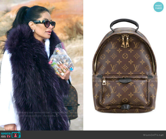 Palm Springs MM backpack by Louis Vuitton worn by Jen Shah  on The Real Housewives of Salt Lake City