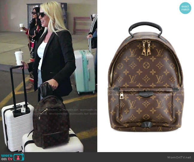 Palm Springs MM backpack by Louis Vuitton worn by Whitney Rose  on The Real Housewives of Salt Lake City