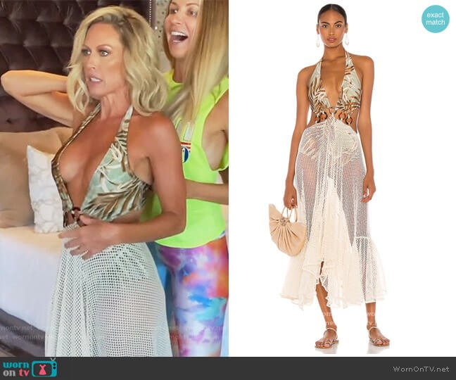 Palmeira Netted Beach Dress by PatBo worn by Braunwyn Windham-Burke  on The Real Housewives of Orange County