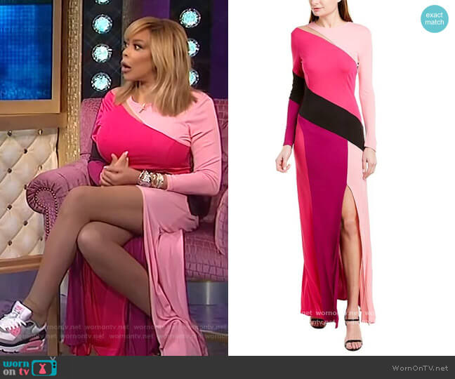 Dina Maxi Dress by Prabal Gurung worn by Wendy Williams  on The Wendy Williams Show