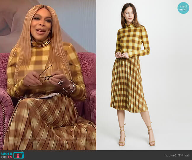 Jersey Long Sleeve Turtleneck and Skirt by Proenza Schouler worn by Wendy Williams  on The Wendy Williams Show