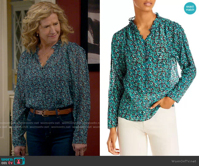 Rebecca Taylor Climbing Roses Top worn by Vanessa Baxter (Nancy Travis) on Last Man Standing