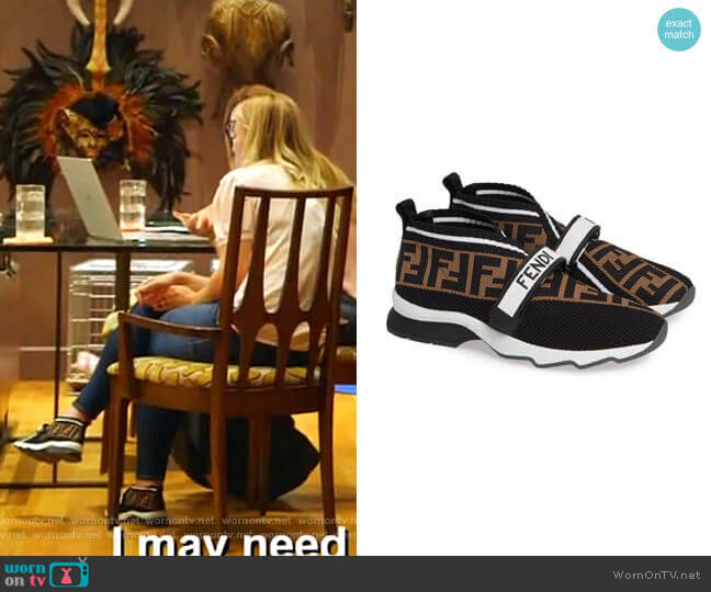 Rockoko Knit Sneaker by Fendi worn by Stephanie Hollman  on The Real Housewives of Dallas