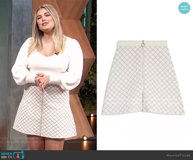 Hamyl Quilted Skirt by Sandro worn by Carissa Loethen Culiner  on E! News