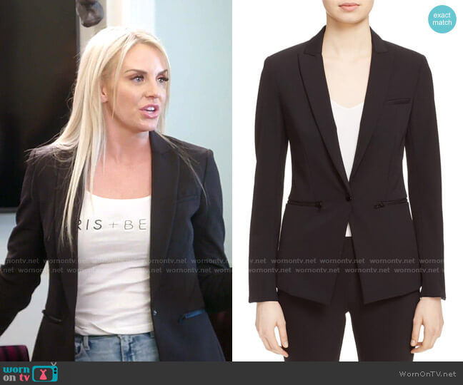 Scuba Jacket by Veronica Beard worn by Whitney Rose  on The Real Housewives of Salt Lake City