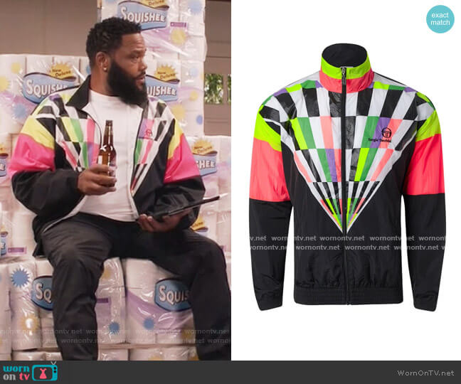 Archive Warm-Up by Sergio Tacchini worn by Andre Johnson (Anthony Anderson) on Blackish