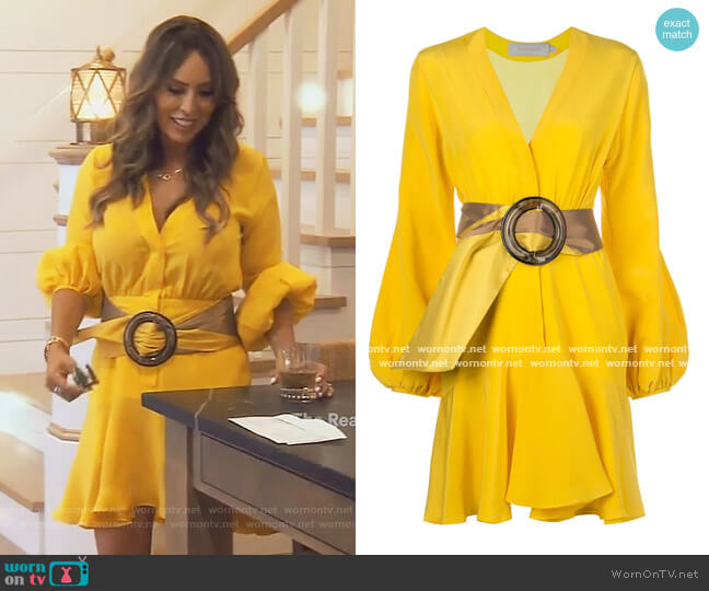 Belted Wrap Dress by Silvia Tcherassi worn by Kelly Dodd  on The Real Housewives of Orange County
